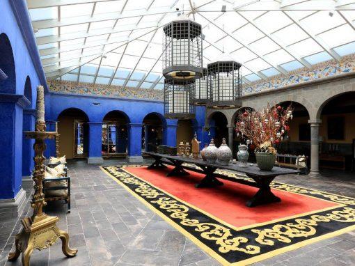 Lobby at the Palacio del Inka Hotel in Cuscl.