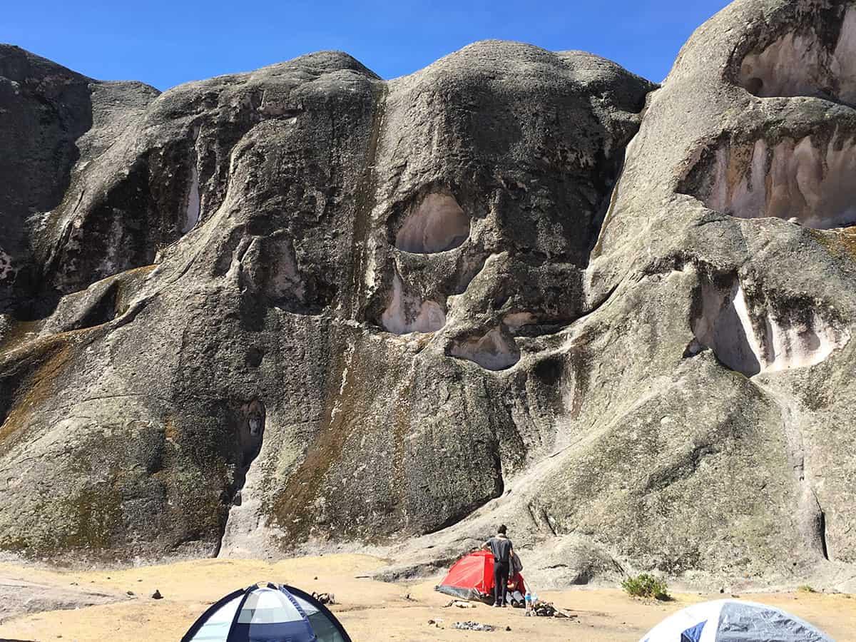 The Amphitheater campsite at Marcahuasi in Lima, Peru