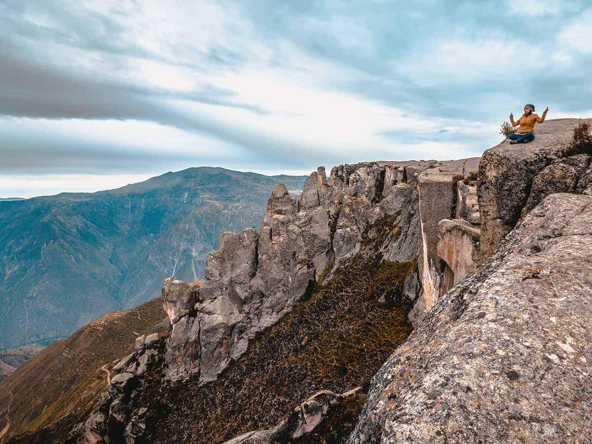 Meditating at Lookout Point at Marcahuasi
