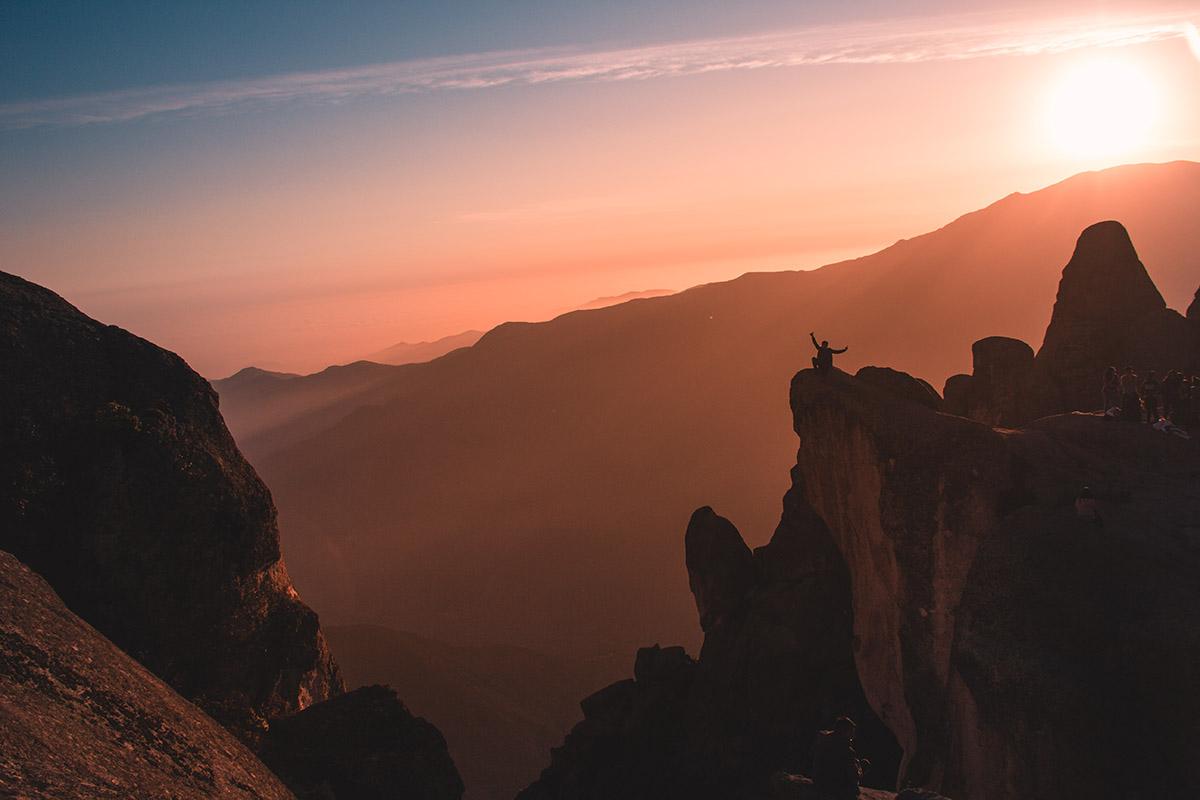 Colorful sunset over the Marcahuasi plateau near Lima, Peru