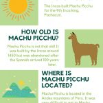 Machu Picchu Facts Infographic with small drawings
