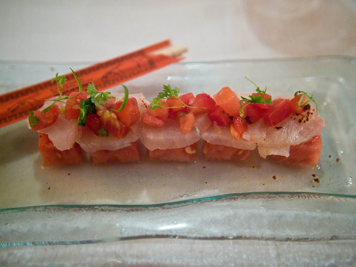 A more typically Japanese styled tiradito with sashimi-style fish.