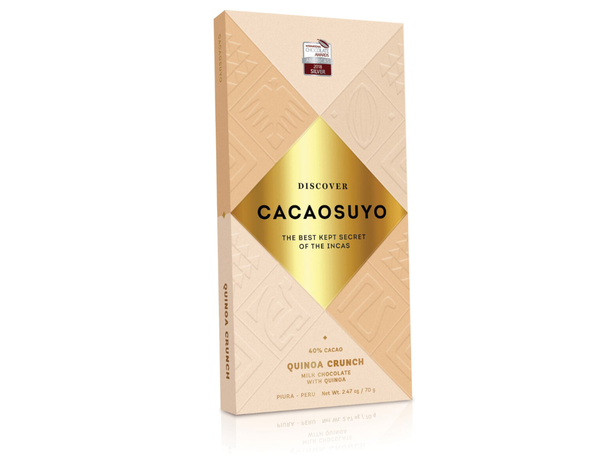 Cacaosuyo chocolate bar, a popular Peruvian chocolate brand that is now available in the US.