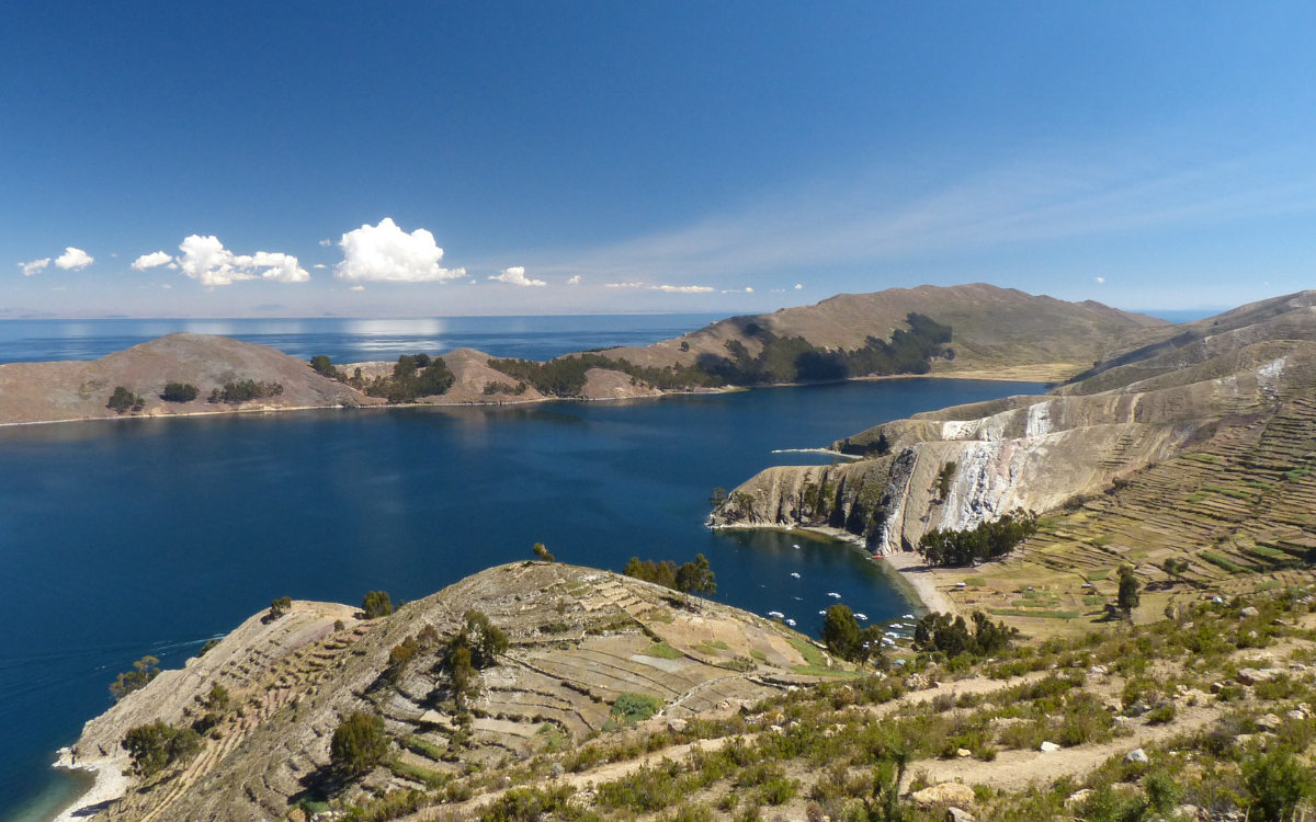 The best time to visit Lake Titicaca, Peru on a clear day like this is between April-October.