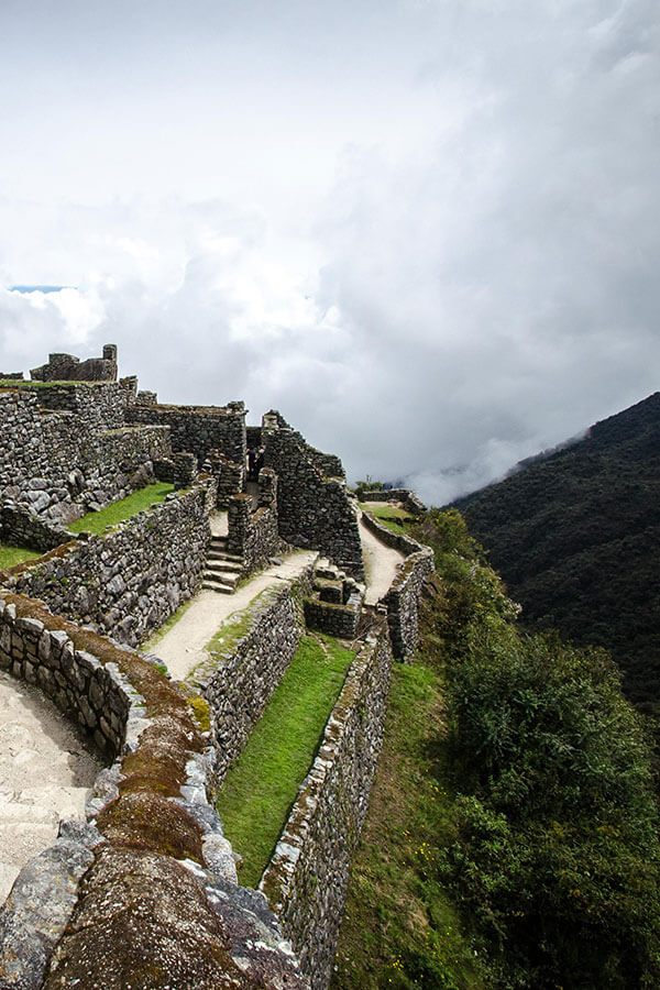 Inca ruins as seen on the 2-day Inca Trail