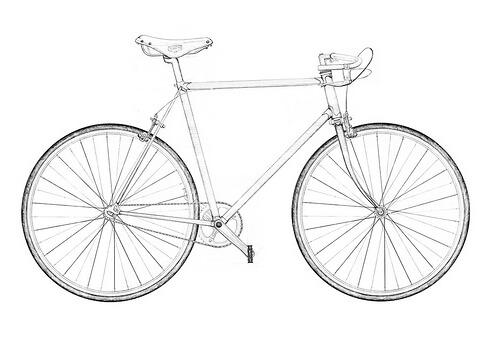 Bike against a white background