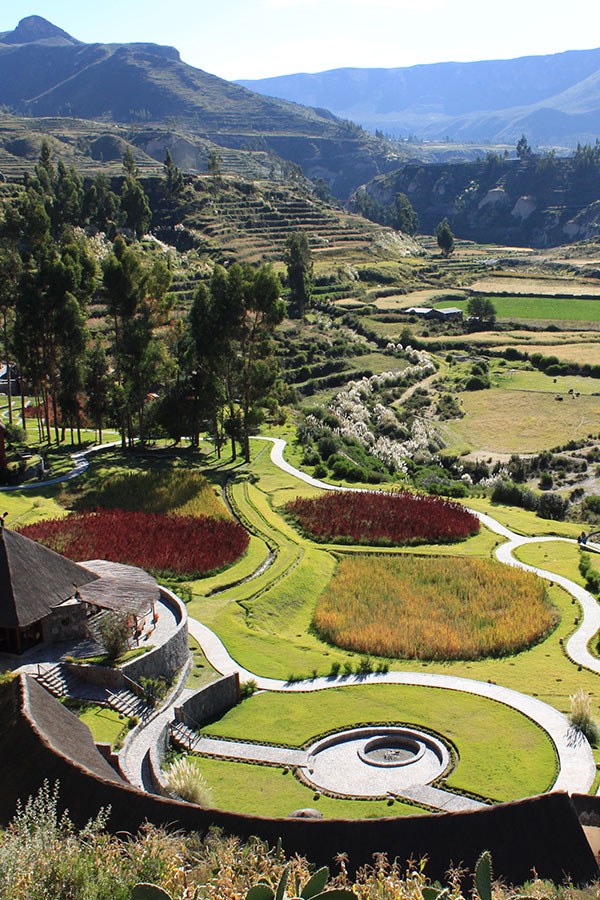 View from the Colca Lodge in Arequipa