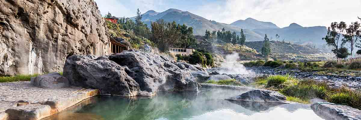 Hot springs at the Colca Lodge in Colca Canyon, Arequipa