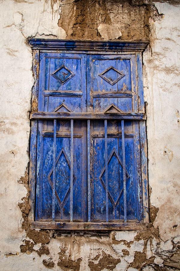A classic colonial window in Cusco, Peru