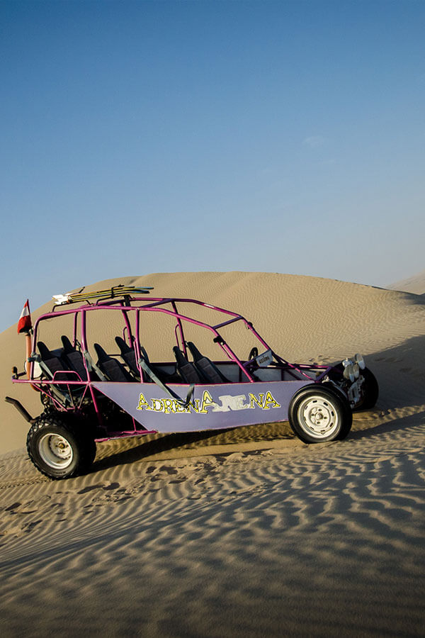 Sand buggy in the Ica Desert of southern Peru