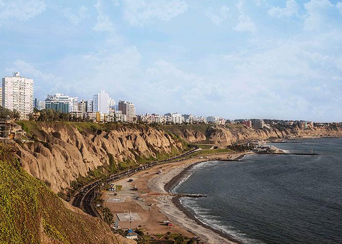 view from El Faro in Miraflores
