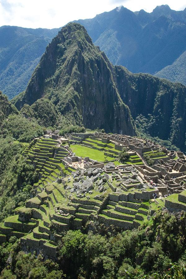Beautiful view of Machu Picchu on a honeymoon
