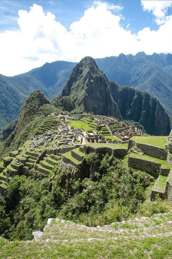 View of Machu Picchu while on a Peru honeymoon