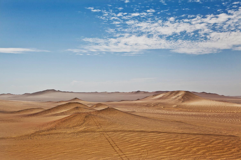 Desert scene in Pachacamac