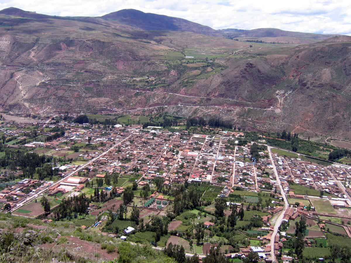 The town of Urubamba in the Sacred Valley