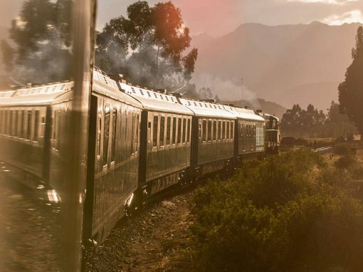 PeruRail train to Machu Picchu in the Sacred Valley of Peru.