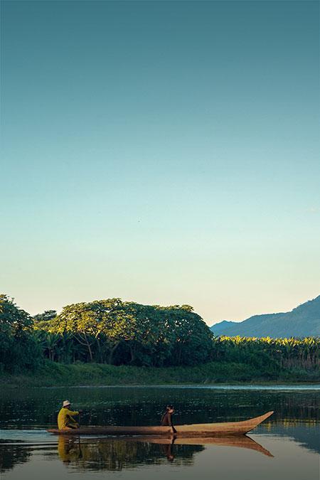 peruvian jungle river landscape