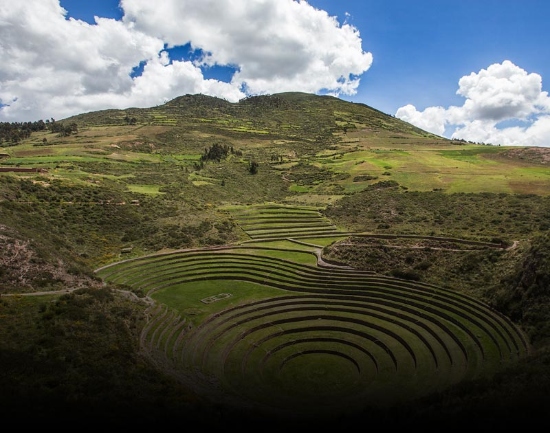 The Moray archaeological site, a mysterious set of circular terraces used for agriculture.