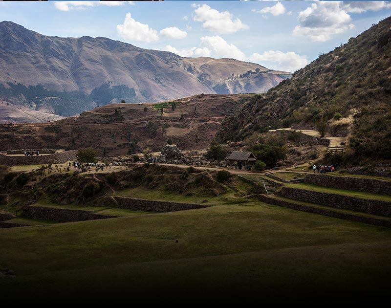 The Inca archaeological site of Tipon located in the Sacred Valley just outside of Cusco.