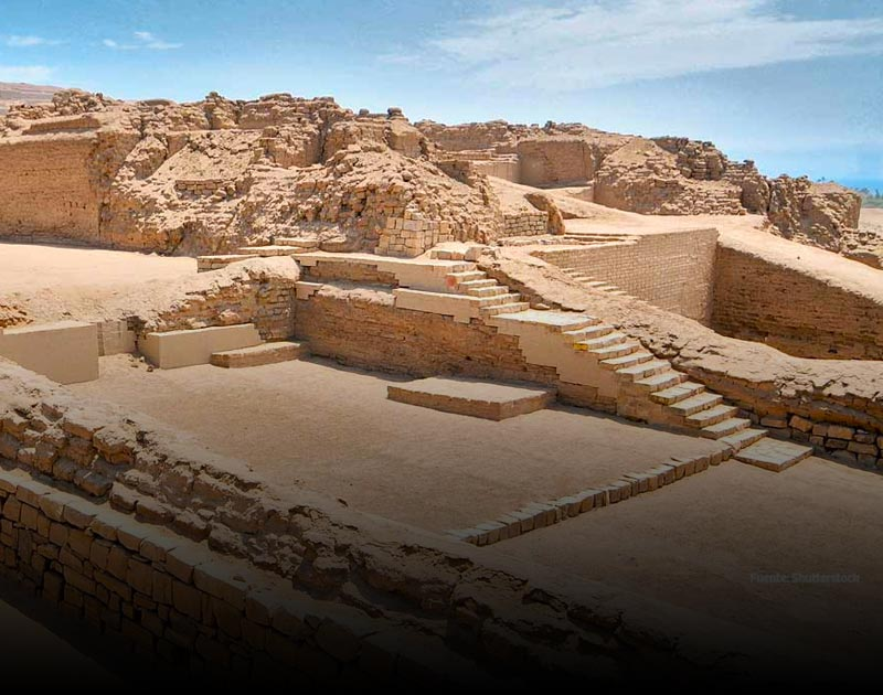 The adobe ruins of Pachacamac, a Lima archaeological site dating back to pre-Incan times.