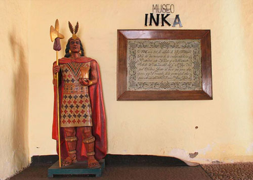 Lifesize Inca Replica at the Inka Museum of Cusco, beloved for its collection of rustic art, artifacts and architecture.