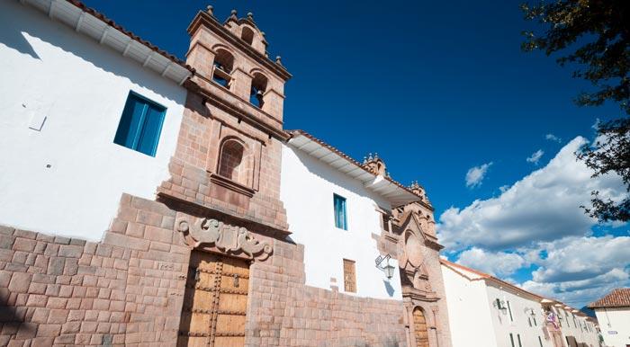 Stone facade of a colonial-era building in Cusco, the former capital of the Inca Empire.