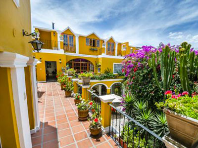 La Hosteria, a restored colonial house in Arequipa offering guest rooms for visitors.