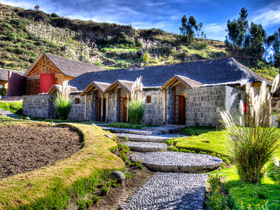 Colca Lodge, a stunning eco-friendly hotel with its own private thermal springs.