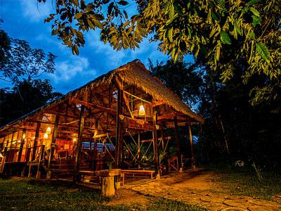 Posada Amazonas, a jungle lodge about two hours from Puerto Maldonado in the Peruvian Amazon.