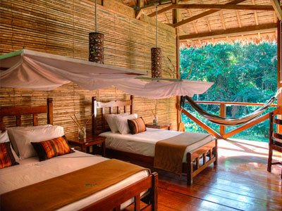 Refugio Amazonas, a jungle lodge located on a private reserve next to Tambopata National Reserve.