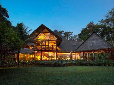 Inkaterra Reserva Amazonica, a luxurious jungle lodge in the Amazon near Puerto Maldonado.