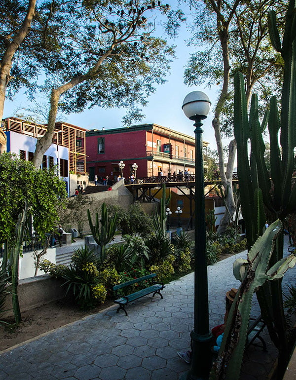 Streets of Barranco and el Puente del Amor