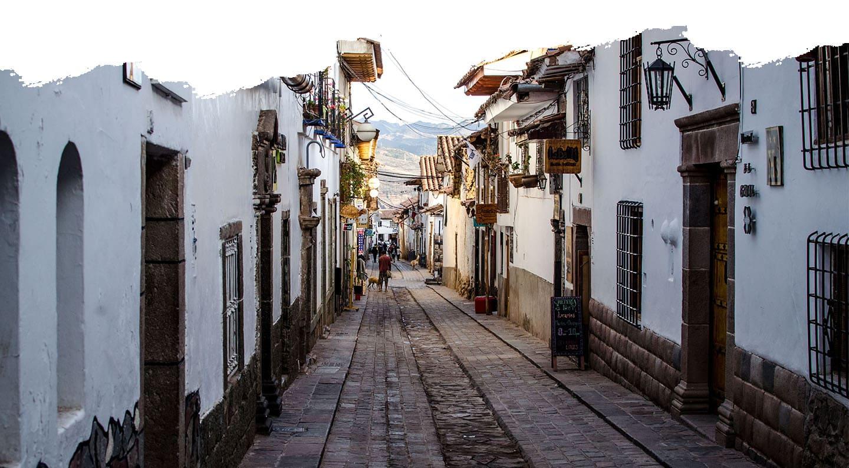 Cobblestoned street in San Blas, Cusco