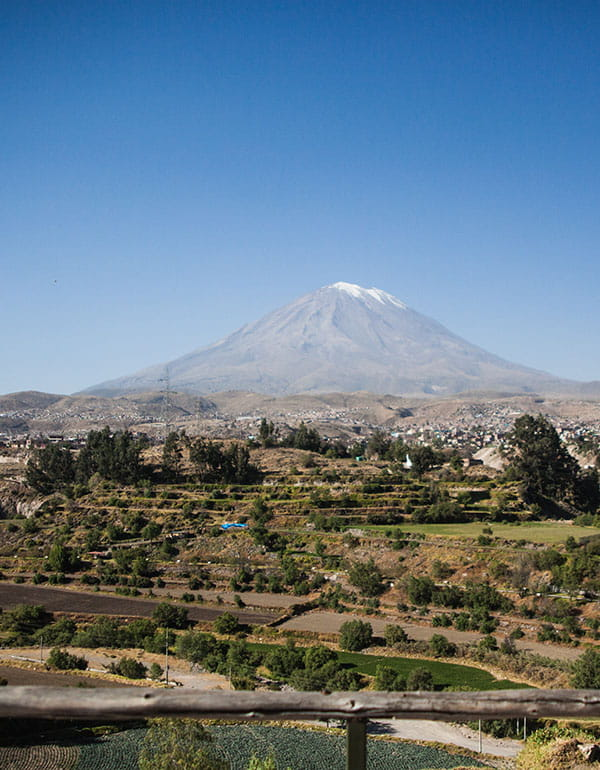 View of Misti Volcano in Arequipa