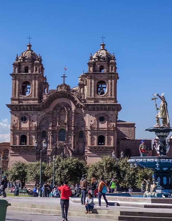 View of Plaza de Armas in Cusco, Peru