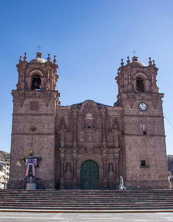 View of the cathedral of Puno