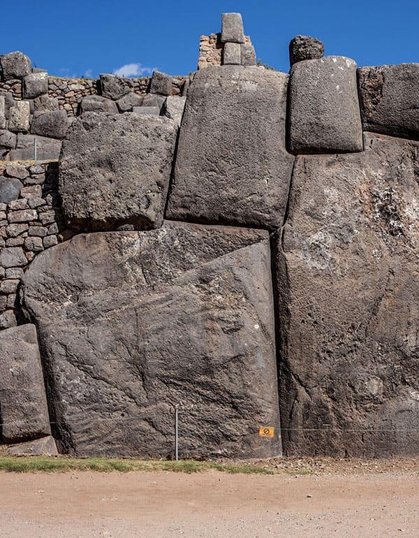 View of Sacsayhuaman gigantic stone work