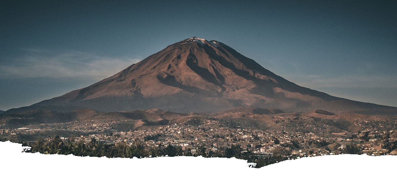 View of Misti Volcano in Arequipa