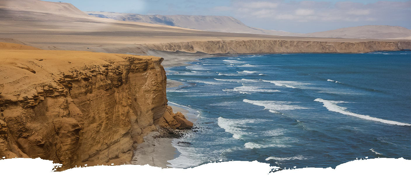 View of the cliff of Paracas