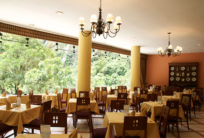Restaurant area with views of the surrounding greenery | Hatuchay Tower | Peru for Less