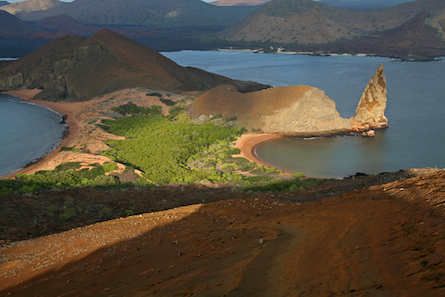 Galapagos landscape and beach