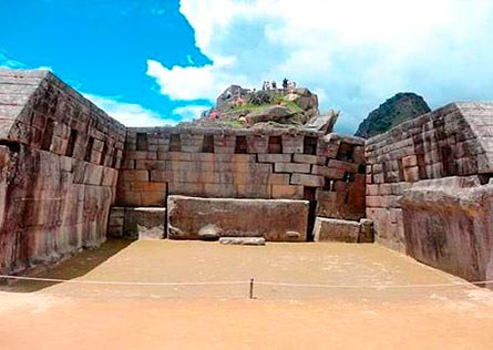 Three-wall stone structure of Main Temple at Machu Picchu