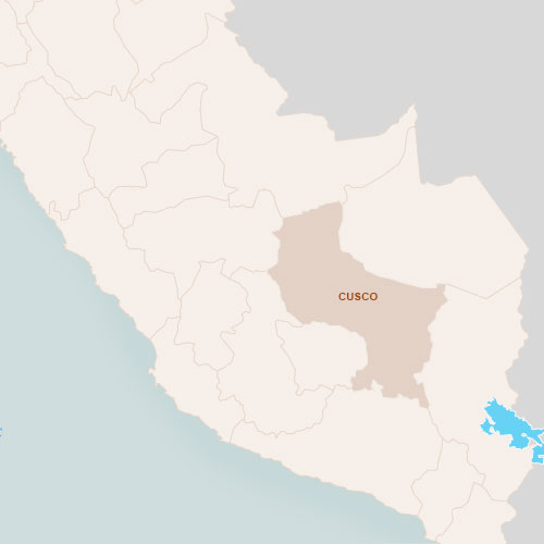 Map of the destinations and transportation for Peru Cusco