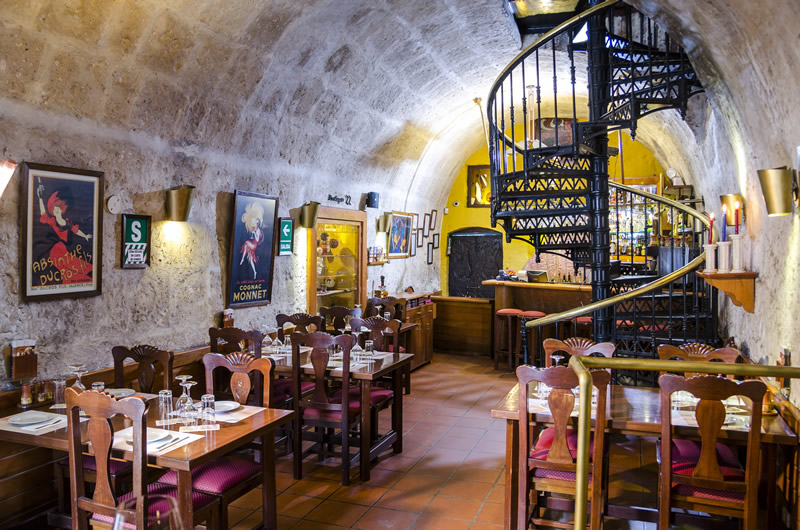 Zig Zag restaurant dining room with spiral staircase, Arequipa, Peru