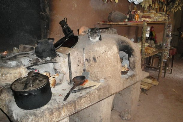 A traditional wood oven